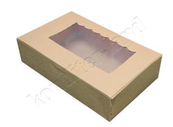 "Упаковка для сладостей ""Крафтовая"" 22х13х5 см"