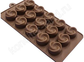 """Силиконовая форма для шоколада """"Завиток"""""""