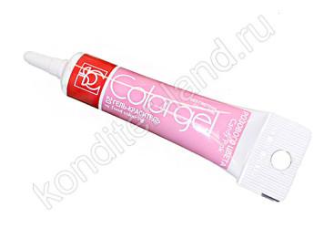 Гелевый краситель розовый Modecor 20 гр