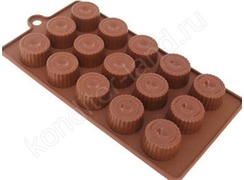 """Силиконовая форма для шоколада """"Капсулы"""""""
