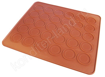 Силиконовый  коврик для выпечки макаронс, 30х25 см
