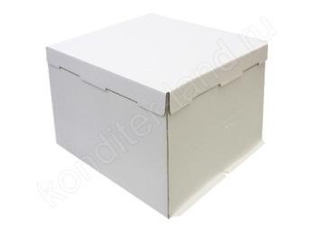Упаковка для торта белая 36х36х26 см