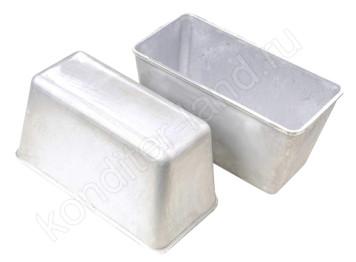 Форма для расстойки и выпечки хлеба дюралюминеевая, 21х10 см