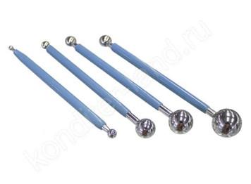 Набор инструментов для работы с мастикой металлические, 4 шт