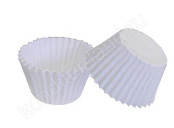 Бумажные капсулы для конфет белые, 30х24 мм, 15-18 шт