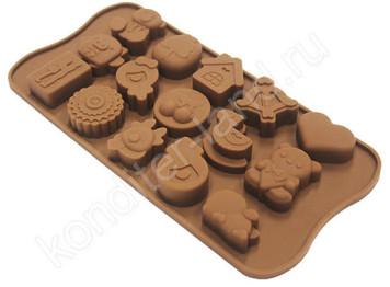 """Силиконовая форма для шоколада """"Игрушки"""""""