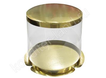 "Упаковка для торта ""Круглая"" пластиковая, 250х213 мм"