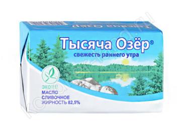 """Масло сливочное """"Тысяча озер"""" 82,5%, 450 г"""