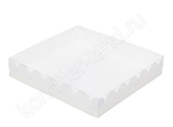 Упаковка для печенья белая 200х200х35 мм