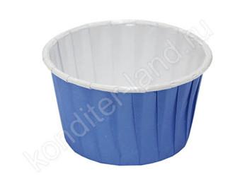 """Бумажная форма для выпечки ламинированная """"Маффин"""" голубой, 12 шт"""