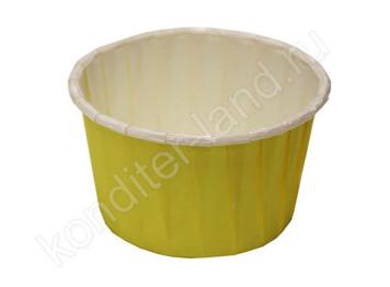 """Бумажная форма для выпечки ламинированная """"Маффин"""" желтый"""