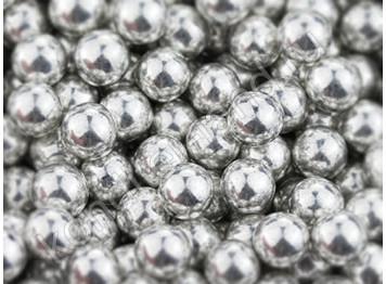 Бусины серебряные 6 мм, 50 гр