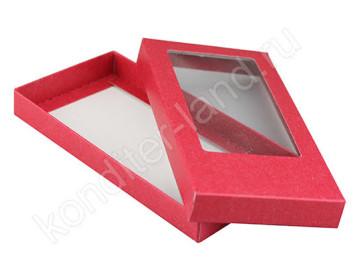 Упаковка для плитки шоколада 160х80х17 мм, цвет красный