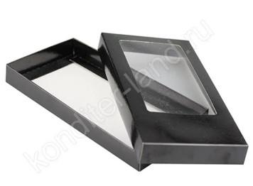 Упаковка для плитки шоколада 160х80х17 мм, цвет черный