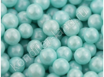Бусины голубые перламутровые 8 мм, 50 гр