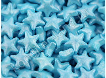 """Сахарное украшение """"Голубые перламутровые звезды"""", 50 г"""