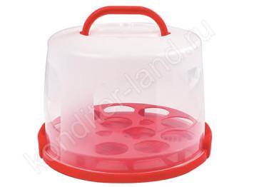 Переноска (контейнер) для торта пластиковая, 30 см, h = 18 см
