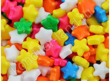 """Сахарное украшение """"Разноцветные звезды минни"""", 50 г"""