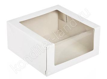 Упаковка для торта с боковым окном 225х225х100 мм