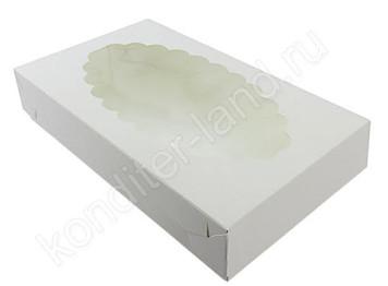 """Упаковка для эклеров с окном """"Белая"""", 240х140х50 мм"""