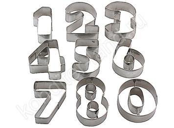 """Набор металлических вырубок """"Большие цифры"""", 10 шт"""