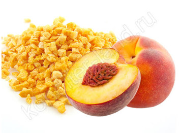 Сублимированный персик, кусочки 1-5 мм, 15 гр