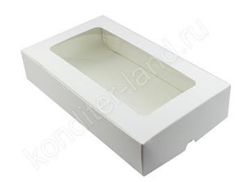 Упаковка для зефира и печенья с окном, 280 х 165 х 55 мм