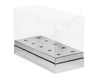 """Упаковка для кейк-попсов """"Серебро"""" 240х110х160 мм"""