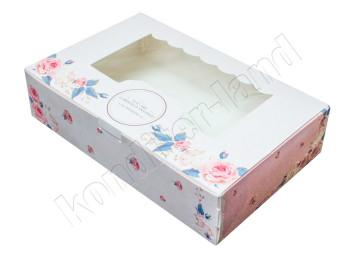 """Упаковка для сладостей """"Розы"""" 22х13х5 см"""