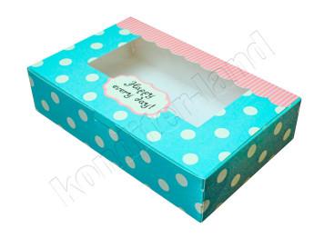 """Упаковка для сладостей """"Happy"""" 22х13х5 см"""