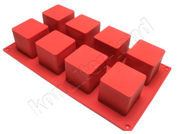 """Силиконовая форма """"Кубик"""" 8 ячеек"""