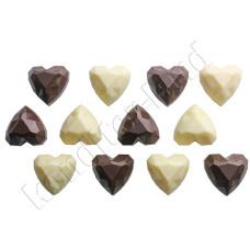 """Поликарбонатная форма для шоколада """"Бриллиантовое сердце"""""""