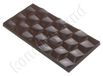 """Поликарбонатная форма для шоколада """"Плитка кристалл"""""""