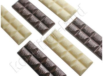 """Поликарбонатная форма для шоколада """"Плитка батончик"""""""