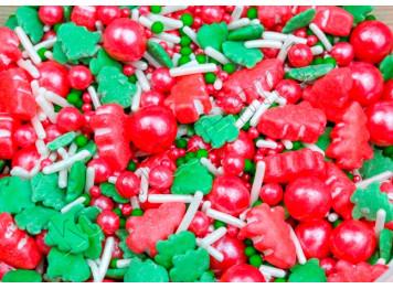 "Посыпки сахарные ""Новогодняя елка красная"", 50 г"