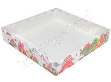 """Упаковка для печенья """"Рождество"""" 200х200х35 мм"""