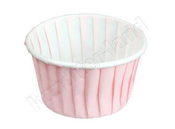 """Бумажная форма для выпечки """"Маффин"""" нежно-розовые, 12 шт"""