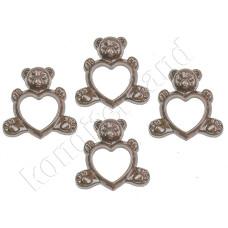 """Пластиковая форма для шоколада """"Мишка с сердцем"""""""