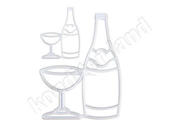 """Набор выемок кондитерских """"Бутылка с фужером"""", 2 шт"""