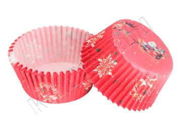 """Бумажные формы для выпечки """"Санта"""" 50х30 мм, 24 шт"""
