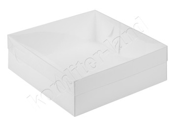 Упаковка для зефира и печенья с прозрачной крышкой, 20х20х7 см