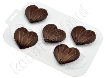 "Форма для шоколада пластиковая ""Мужское сердце"""