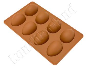 """Силиконовая форма для шоколада """"Яйцо"""" 8 ячеек"""