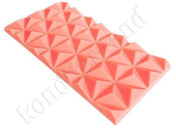 """Поликарбонатная форма для шоколада """"Плитка пирамида"""""""