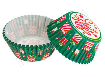 """Бумажные формы для выпечки """"С Новым Годом"""" 50х30 мм, 24 шт"""