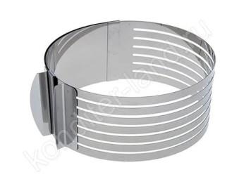 Металлическая раздвижная форма для выпечки с прорезями 15-20 см