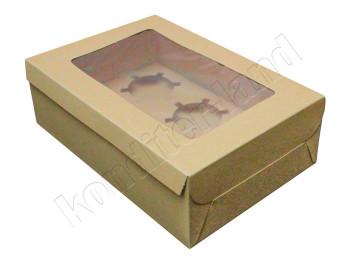 Упаковка на 6 капкейков Крафт