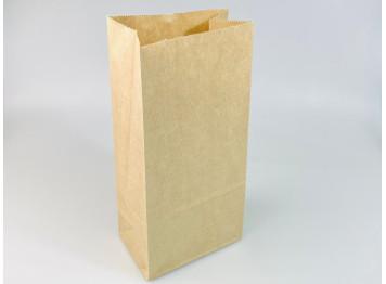 Пакет бумажный крафтовый 12х25х8 см, 10 шт
