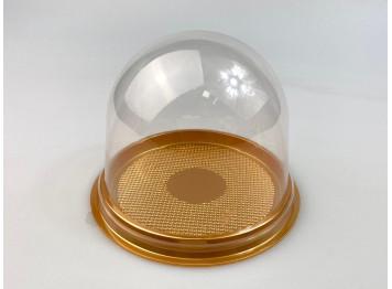 Подложка с купольной крышкой, золотая, 12 шт