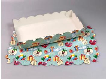 Упаковка для печенья и пряников тиффани 250х150х35 мм